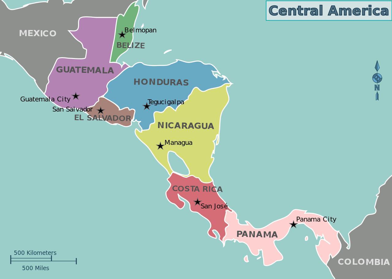 Honduras Karte Central America Karte Von Honduras Landkarte