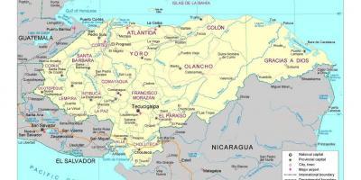 honduras karte Honduras map   Karten von Honduras (Mittelamerika   Südamerika)